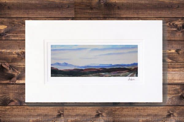 Looking over to Rum and Eigg print