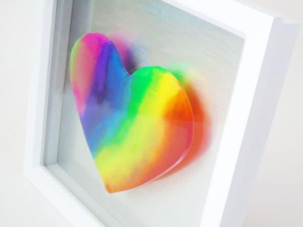 Resin Rainbow heart
