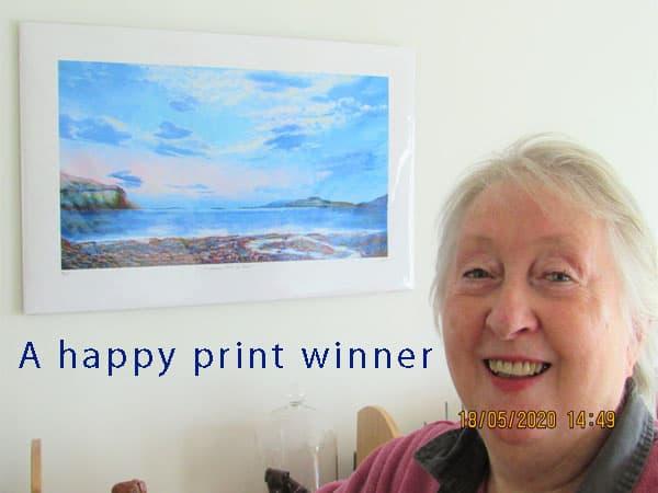 Sunbeams Loch na Keal print winner